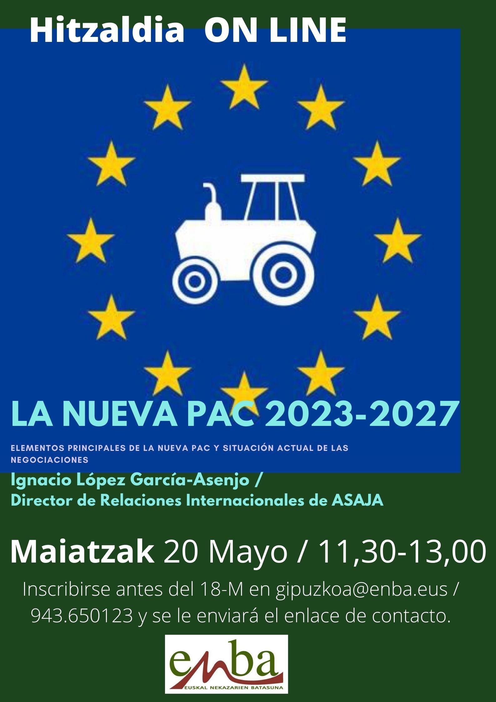 Abierta la inscripción para la Conferencia sobre LA NUEVA PAC 2023-2027 que se celebrará el 20 de Mayo