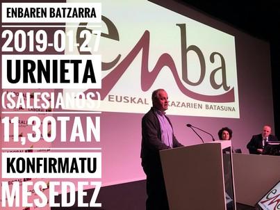 """ENBA celebrará su Asamblea Anual este domingo, 27 de Enero, bajo el lema """"Orgullosos de nuestros baserritarras"""""""